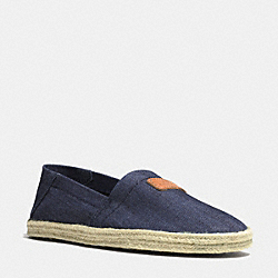 MARGRET SLIP ON - q4054 - RAW DENIM/KHAKI