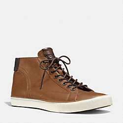 PETE SNEAKER - SADDLE BROWN - COACH Q4098
