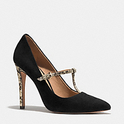 COACH FULTON HEEL - BLACK/NATURAL - Q4402