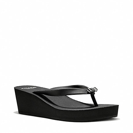 COACH LORALYN WEDGE - BLACK - q4573