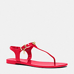 COACH PELICAN SANDAL - TRUE RED - Q4581