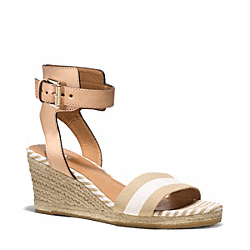 HELEN WEDGE - q5040 - KHAKI WHITE/NATURAL