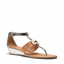 COACH INES SANDAL - SILVER/GINGER - Q5049