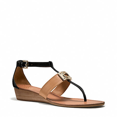 COACH q5049 INES SANDAL BLACK/NATURAL