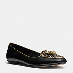COACH MARAH FLAT - BLACK/BROWN MULTI - Q5208