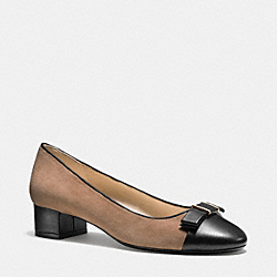 RIVERA PUMP - q5324 -  MINK GREY/BLACK