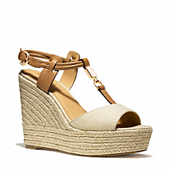 LEAH WEDGE - GOLD/NATURAL - COACH Q6057