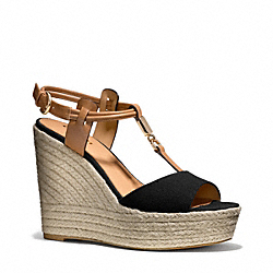LEAH WEDGE - BLACK/GINGER - COACH Q6057