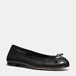 FLORABELLE FLAT - BLACK - COACH Q6275