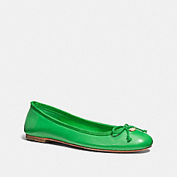 FLORABELLE FLAT - GREEN - COACH Q6275