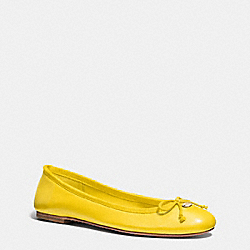 FLORABELLE FLAT - YELLOW - COACH Q6275