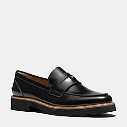 COACH IDA LOAFER - BLACK - Q6277
