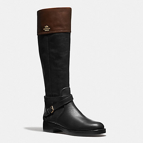 coach q6301 elm boot black mahogany coach new