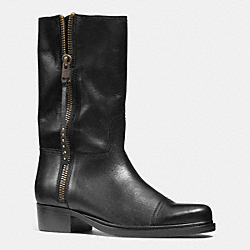 COACH SHORT ROPER  BOOT - BLACK/BLACK - Q6551