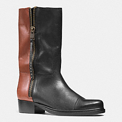 COACH SHORT ROPER  BOOT - BLACK/SIENNA - Q6551