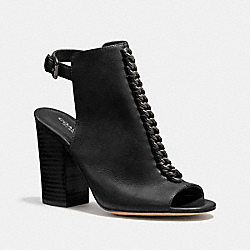 SANDFORD OPEN TOE BOOTIE - BLACK - COACH Q6600