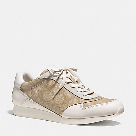 COACH REBECCA SNEAKER - LIGHT KHAKI/CHALK - q6735