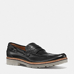 HOUSTON PENNY LOAFER - BLACK - COACH Q6968