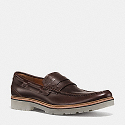 HOUSTON PENNY LOAFER - MAHOGANY - COACH Q6968