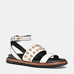 COACH DANNIE SANDAL - CHALK - Q7104