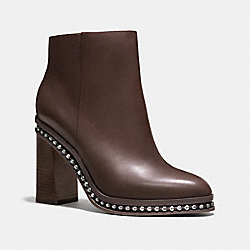 COACH JUSTINA BEAD CHAIN BOOTIE - MINK - Q7693
