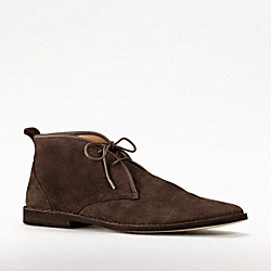 COACH CALEB LACE UP DESERT BOOT - CHESTNUT - Q772