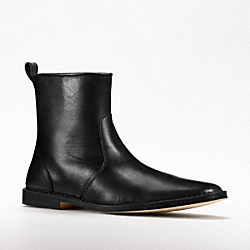 COACH JEREMY LEATHER-SIDE ZIP BOOT - BLACK - Q776