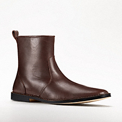 COACH JEREMY LEATHER-SIDE ZIP BOOT - BROWN - Q776