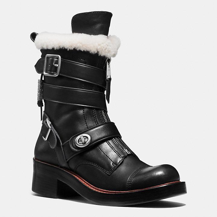 Coach Zip Moto Boots