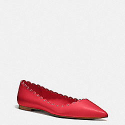 JILL FLAT - TRUE RED - COACH Q7949
