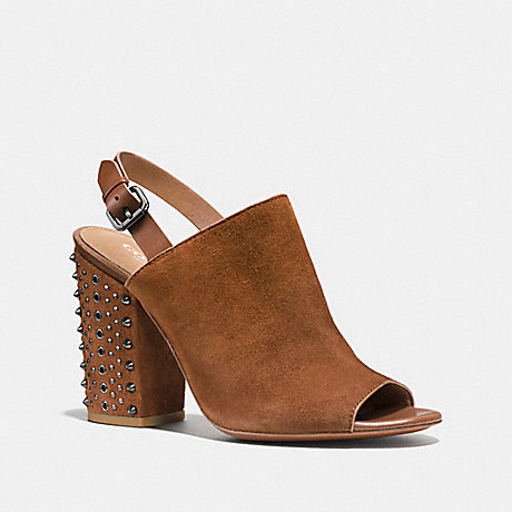 COACH DREW HEEL - SADDLE/SADDLE - q8043
