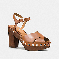 VIOLA HEEL - q8074 - SADDLE