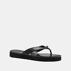 COACH SHELLY SANDAL - BLACK - Q8089