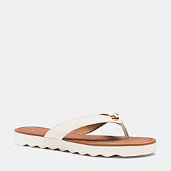 COACH SHELLY SANDAL - CHALK - Q8089