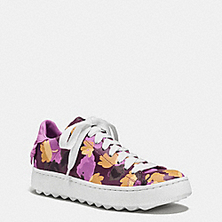 COACH C101 LOW TOP SNEAKER - PLUM/WILDFLOWER - Q8097