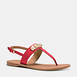COACH GRACIE SWAGGER SANDAL - TRUE RED - Q8100