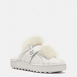 COACH LO TOP SLIDE SNEAKER - PALE WHITE/NATURAL - Q8117