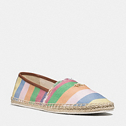 JOANIE ESPADRILLE - RAINBOW/SADDLE - COACH Q8158