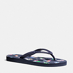 COACH CLEMENTINE SANDAL - NAVY/MIDNIGHT NAVY - Q8159