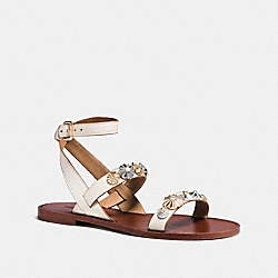 COACH ELEANOR SANDAL - CHALK - Q8306