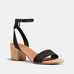 COACH THOMPSON HEEL - BLACK/BLACK - Q8331