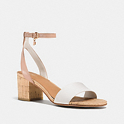 COACH THOMPSON HEEL - CHALK/BEECHWOOD - Q8331