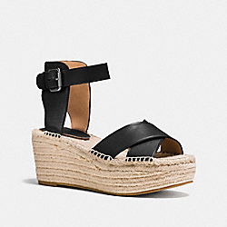 PRIMROSE WEDGE - q8421 - BLACK