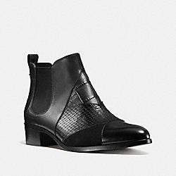 SUFFOLK PATCHWORK BOOTIE - BLACK/BLACK - COACH Q8707