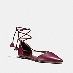 JOHNSON TEA ROSE FLAT - BURGUNDY - COACH Q8712