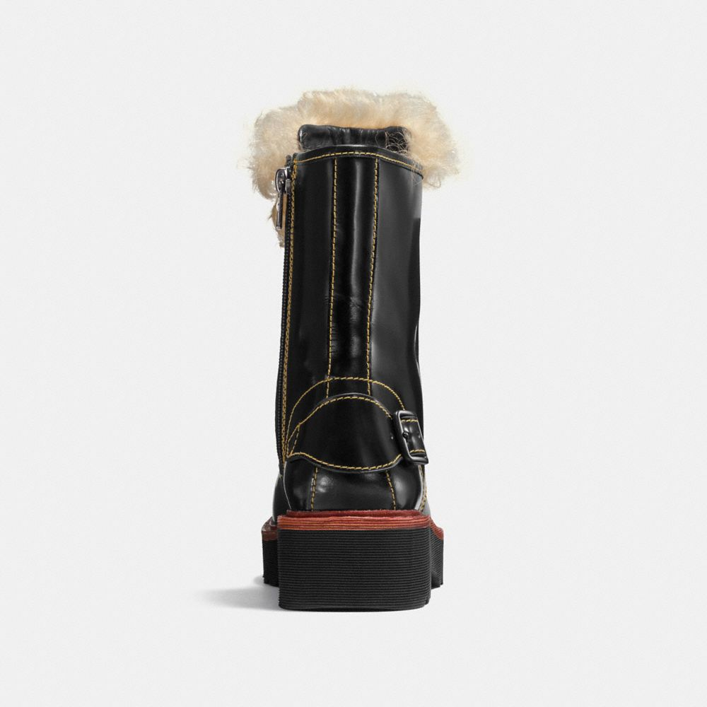 Moto Hiker Boot With Shearling - Alternate View A2