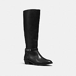 COACH CAROLINE SWAGGER BOOT - BLACK - Q8832