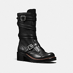 MOTO BOOT - BLACK/BLACK - COACH Q8884