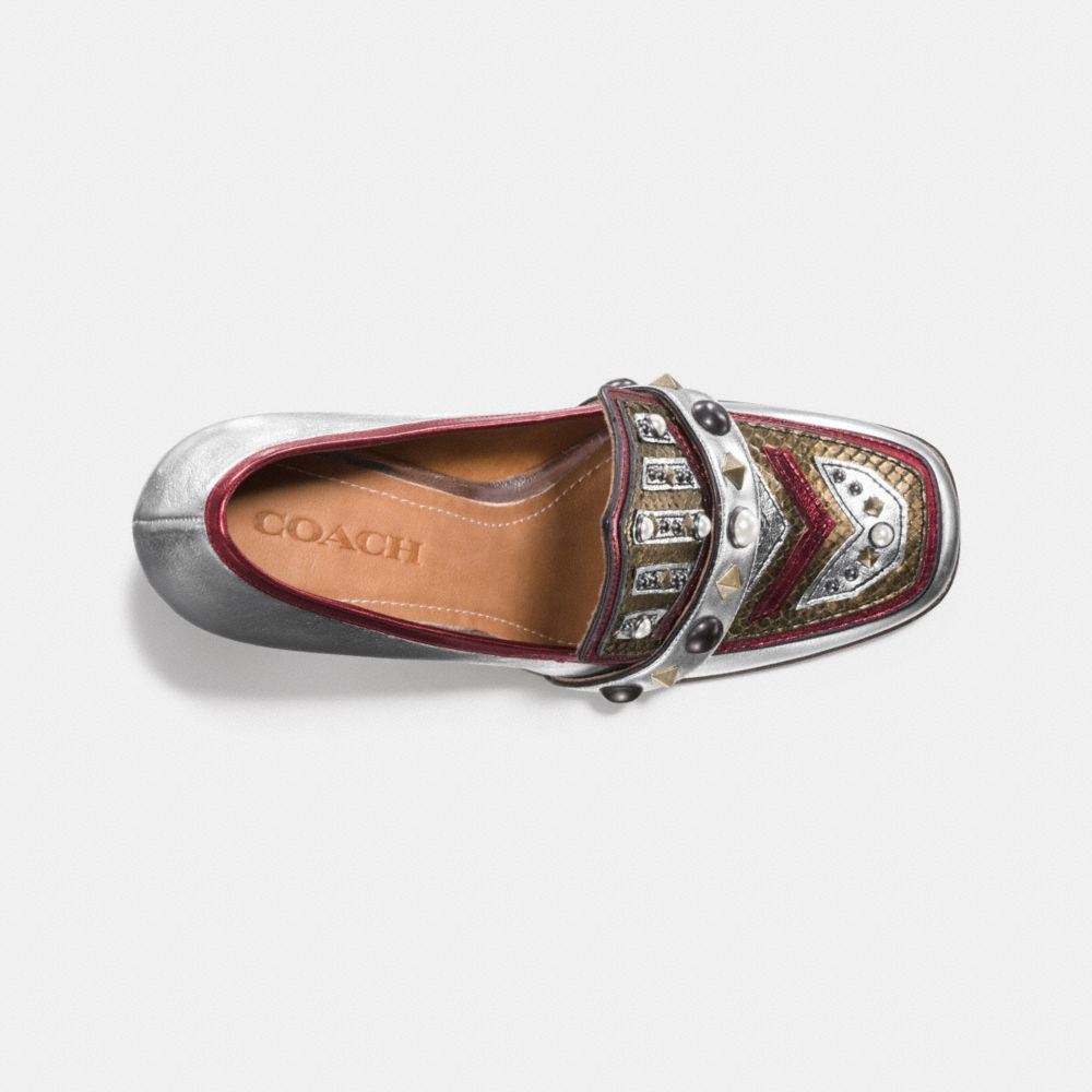 HIGH VAMP LOAFER WITH SHIELD - Alternate View