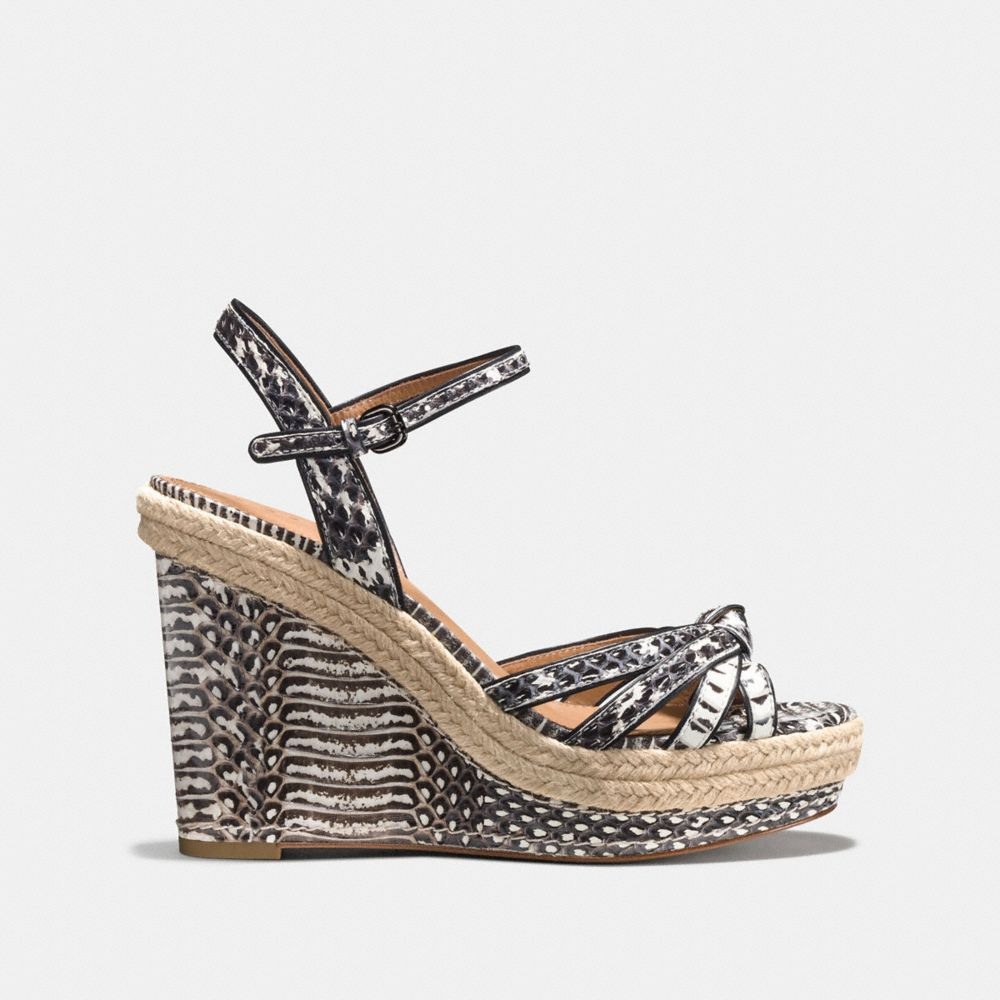 Coach Dalton Snakeskin Espadrille Alternate View 1